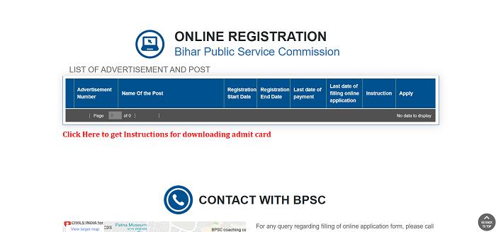 Bihar BPSC Online apply